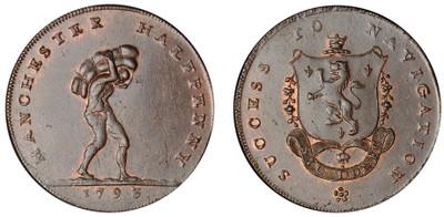 John Fielding, Commercial Halfpenny, 1793 (D&H Lancashire 135e)