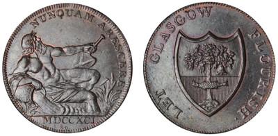 Gilbert Shearer, Commercial Halfpenny, 1791 (D&H Lanarkshire 2)