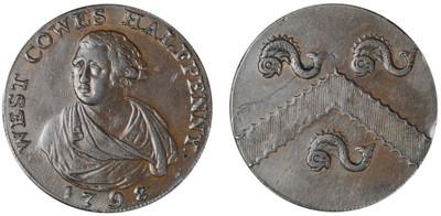 Thomas Aryton, Commercial Halfpenny, 1798 (D&H Hampshire 94)