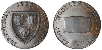 Isaac Wood, Commercial Halfpenny, 1793 (D&H Shropshire 22)