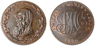 Parys Mine Company, Commercial Penny, 1790 (D&H Anglesey 252)