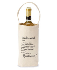 Mud Pie Bridesmaid Ask Wine Bag