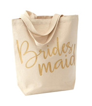 Mud Pie Bridesmaid Canvas Tote