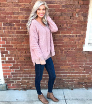 Hold On To This Hooded Sweater - MAUVE