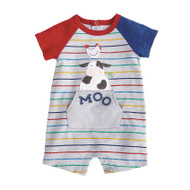 Mud Pie Cow Raglan One Piece