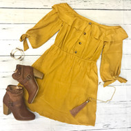 Wait For The One Dress - MUSTARD
