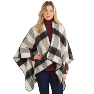 Mud Pie Carter Plaid Ruana - TAN