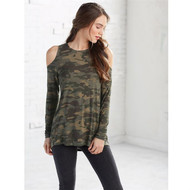 Mud Pie Trish Cold Shoulder Top - CAMO