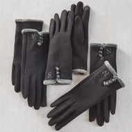 Mud Pie Initial Knit Touchscreen Gloves
