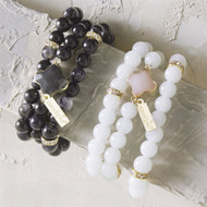 Mud Pie Quatrefoil Bracelet Set