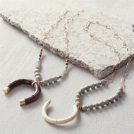 Mud Pie Crescent Necklace