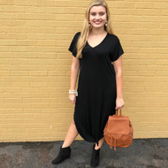 Chasing Comfort Dress - BLACK