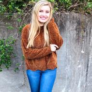 Crop Of Fall Sweater - CHESTNUT