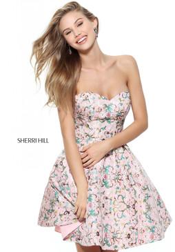 Sherri Hill 50799 short strapless dress