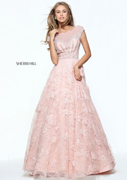 Sherri Hill 51010 Lace Ballgown Dress