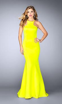 La Femme 24374 Neoprene Dress
