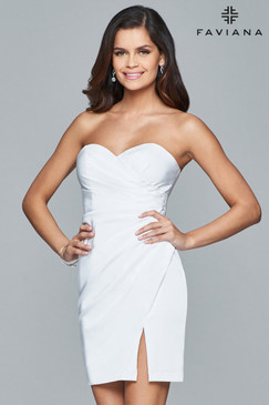 Faviana 8051 Strapless Short Dress