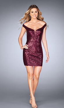 La Femme 25085 Short Dress