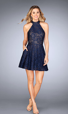 La Femme 25099 Short Dress
