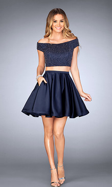 La Femme 25120 Short Dress