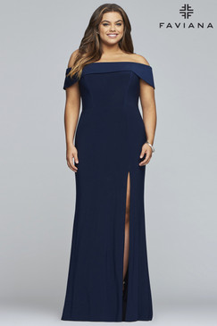 Faviana 9441 Plus Size Jersey Dress