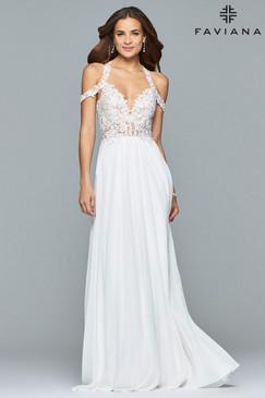 Faviana 10006 Off-the-Shoulder Prom Dress