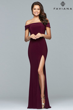 Faviana S10015 Off-the-Shoulder Dress