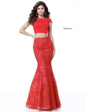 Sherri Hill 51730 Two Piece Lace Dress