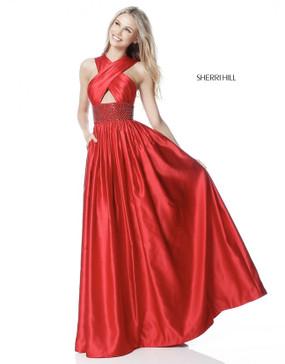 Sherri Hill 51621 Satin Dress