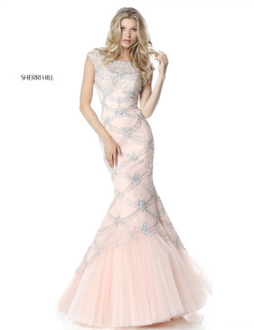Sherri Hill 51593 Lace Mermaid Dress