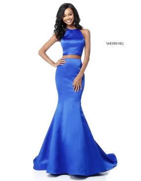 Sherri Hill 51585 Two Piece Satin Mermaid Dress
