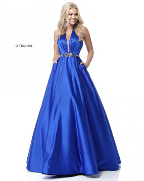 Sherri Hill 51588 Satin Ballgown Dress