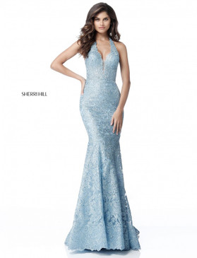 Sherri Hill 51616 Full Lace Gown