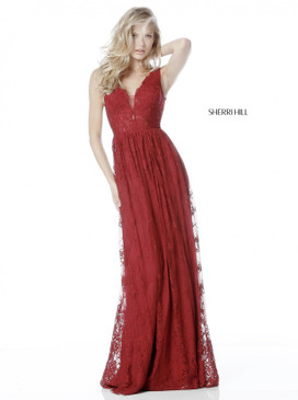 Sherri Hill 51562 Lace Gown