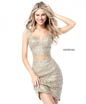 Sherri Hill 51522 Two Piece Lace Dress