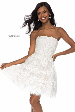Sherri Hill 51668 Short Lace Dress