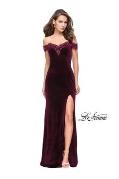 La Femme 25591 Velvet Dress