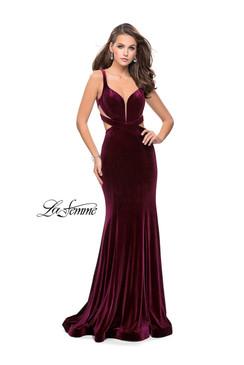 La Femme 25866 Velvet Dress