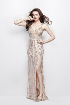 Primavera 3006 Sequin Prom Dress