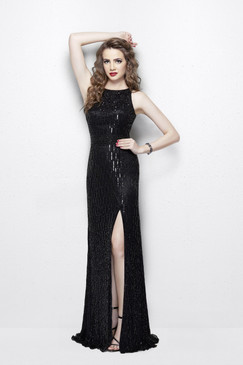 Primavera 3016 Beaded Prom Dress