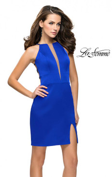 La Femme 26657 Simple Dress