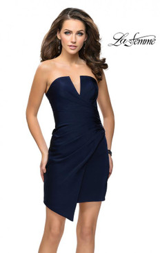 La Femme 26669 Strapless Short Dress