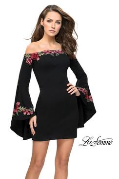 La Femme 26674 Studded Dress