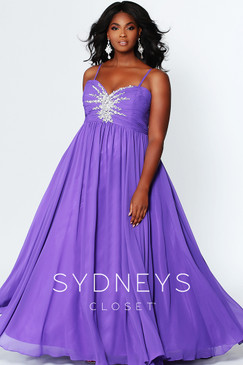 Sydney's Closet SC7071 plus size prom dress.