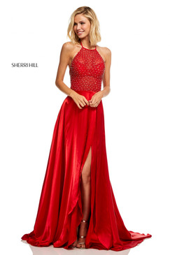 Sherri Hill 52570 Satin Dress