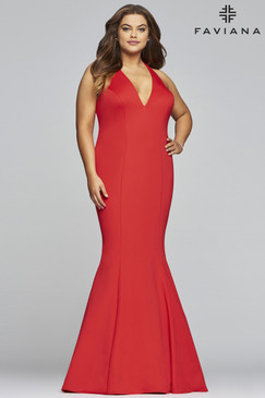 Faviana 9454 Plus Size Mermaid Dress