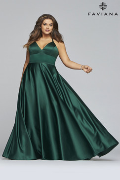 Faviana 9466 Satin Plus Size Dress