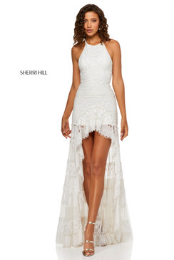 Sherri Hill 52663 High Low Lace Dress