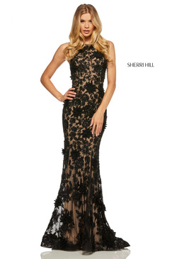 Sherri Hill 52778 Lace Dress
