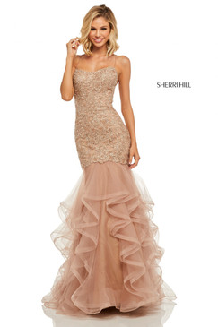 Sherri Hill 52560 Ruffle Mermaid Dress